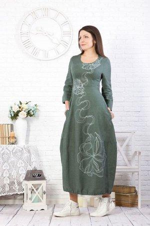 """Платье женское """"Звездочка Новая"""" модель 373/2 океан"""