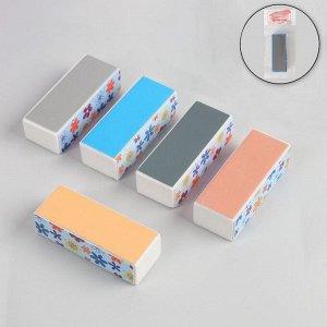 Баф для полировки ногтей, четырёхсторонний, 9 ? 3,5 ? 3 см, рисунок МИКС