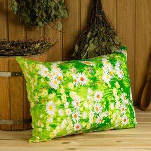 Подушка, набитая кедровой стружкой, размер 40х50 см