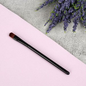 Кисть для макияжа, 12,5 см, цвет чёрный