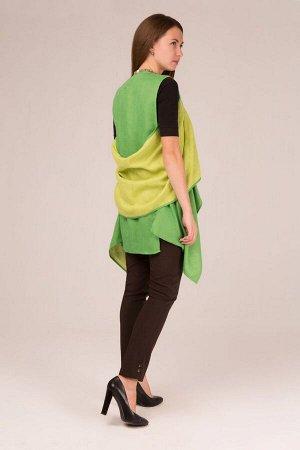 """Жилет женский """"Денди"""" двусторонний модель 815 зеленый и зелёное яблоко"""
