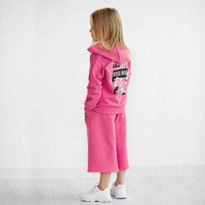 Брюки ДД Количество в упаковке: 1; Артикул: BN-474В21-461; Цвет: Розовый; Ткань: Футер 2-х нитка; Состав: 100% Хлопок; Цвет: Розовый Скачать таблицу размеров