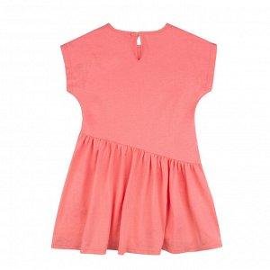 Платье Количество в упаковке: 1; Артикул: BN-159В21-161; Цвет: Оранжевый; Ткань: Кулирка; Состав: 100% Хлопок; Цвет: Коралловый Скачать таблицу размеров