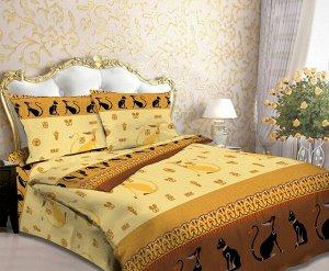 """Комплект постельного белья Laska la """"Египетская кошка"""" Евро."""