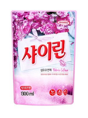 160981 SHAIRIN Концентрированный кондиционер для белья, с ароматом Розовые цветы 1300мл м/у