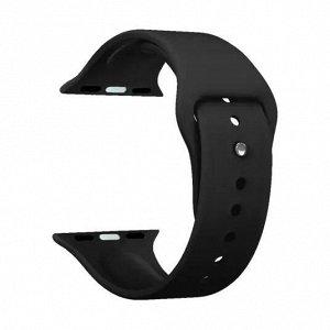 Ремешок Band Silicone для Apple Watch 38/40 mm, силиконовый, черный, Deppa