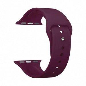 Ремешок Band Silicone для Apple Watch 38/40 mm, силиконовый, бургунди, Deppa