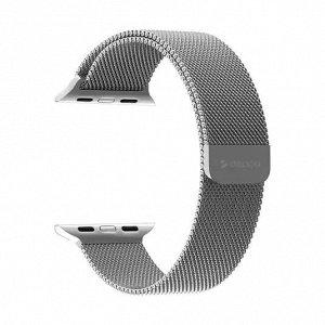 Ремешок Band Mesh для Apple Watch 38/40 mm, нержавеющая сталь, серебристый, Deppa
