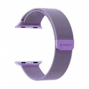 Ремешок Band Mesh для Apple Watch 42/44 mm, нержавеющая сталь, лавандовый, Deppa