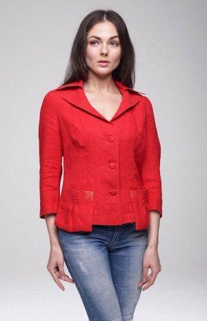 """Жакет женский """"Альберта"""" модель 705 красный"""
