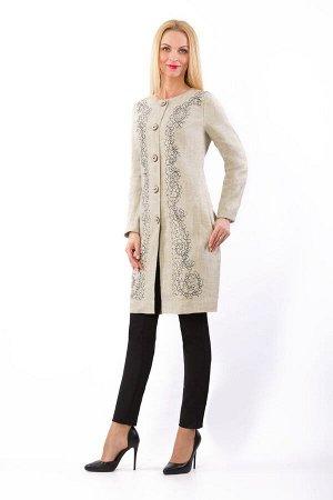 """Пальто женское """"Ренессанс"""" модель 842/1 натуральный лён"""
