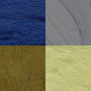 Набор шерсти для валяния цвет Ассорти №8
