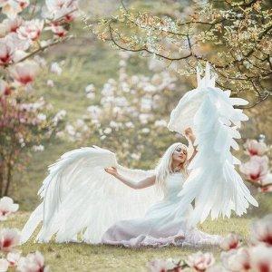 """Холст с красками по номерам """"Ангел в лесу"""" 40*50 см"""