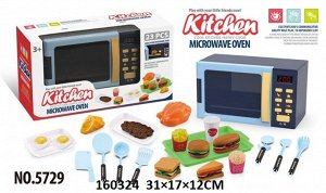 Микроволновка на бат, продукты, посуда, свет, звук, кор. 31*17*12см