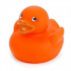 """Игрушка для купания """"Играем вместе"""" Термо Уточка оранжевая, сетка ,5*15*5 см"""