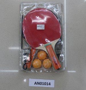Набор для игры в настольный теннис (2 ракетки,3 шарика,сетка), блист.