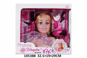 Набор стилиста (голова куклы+аксесс,) кор.32,5*19*29 см
