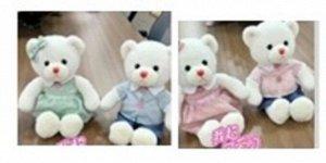 Мягкая игрушка Медвежонок (мальчика/девочка) цвет белый, одежда в ассорт, 23 см