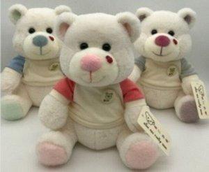 Мягкая игрушка Медвежонок в футболке, с букашкой на носу ,25 см