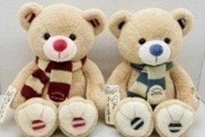 Мягкая игрушка Медвежонок в шарфе, 23 см.