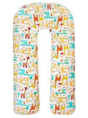 """Подушка для беременных """"AmaroBaby"""" U-образная,340*35 см. (файбер, бязь) Жирафики"""