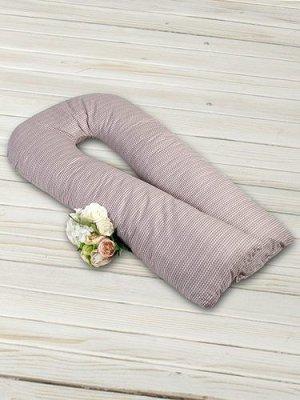 """Подушка для беременных """"AmaroBaby"""" U-образная,340*35 см. (файбер, бязь) косичка"""