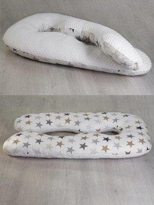 Подушка для беременных АНАТОМИЧЕСКАЯ AmaroBaby 340*72 Звезды пэчворк