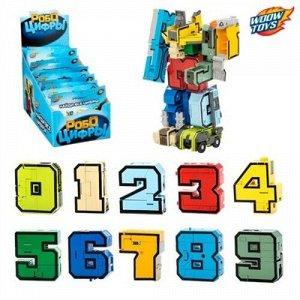 """Робот-трансформер """"Робоцифры"""" в ассорт. ,10*13*2 см"""