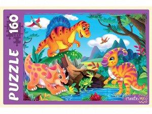 Пазлы 160 Мир динозавров №18