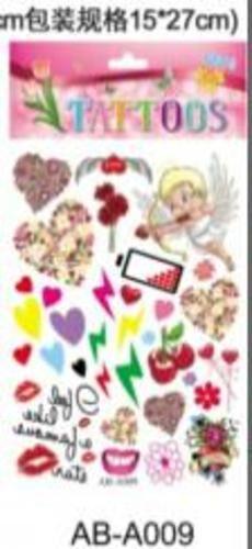 Татуировка-наклейка Любовь  ,14,8*20,8 см