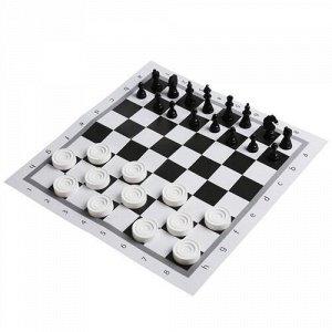 """Игра 2 в 1 """"Умные игры"""" Шахматы и Шашки , пак. 3*17*28 см"""