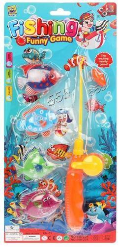 Игра Рыбалка магнит. ,удочка ,4 фигурки, в ассорт. ,16*4*36 см