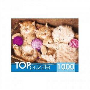 Пазлы 1000 Спящие котята с клубками