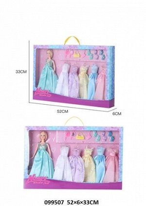 Набор Кукла с нарядами и аксессуарами, кор. 52*33*6см