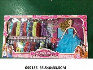 Набор Кукла с нарядами, кор. 65*33*6см