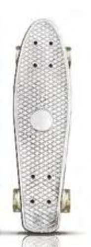Пенниборд 56*14*10 см,,дека пластик, основа алюм.,колеса ПУ , цв. белый