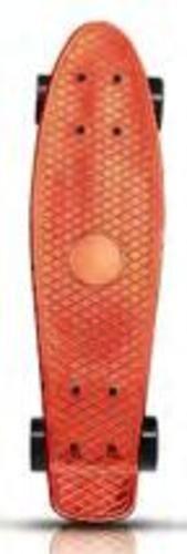 Пенниборд 56*14*10 см,,дека пластик, основа алюм.,колеса ПУ , цв. оранжевый