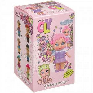 """Набор """"Bondibon"""" Кукла Oly в парике и аксесс, в банке 6,3*11*6,3 см  арт. 3369-1"""