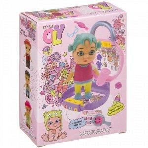"""Набор """"Bondibon"""" Кукла Oly в парике с животными и аксесс, в чемоданчике на кодовом замке,11,*4,8*16"""
