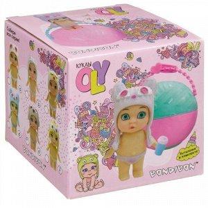 """Набор """"Bondibon"""" Кукла Oly в шапке-ушанке с животными и аксесс, в шаре, 10*10*10 см. (5558-1)"""