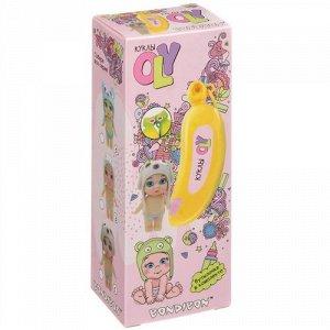 """Набор """"Bondibon"""" Кукла Oly в шапке-ушанке с животными и аксесс,в банане, 15*6,6*17 см арт.3370-В"""