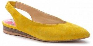 907011/01-03 желтый иск.замша женские туфли открытые (В-Л 2021)