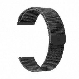 Ремешок Band Mesh универсальный, 20 mm, нержавеющая сталь, черный, Deppa
