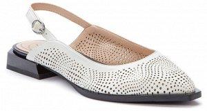 917025/01-01 белый иск.кожа женские туфли открытые (В-Л 2021)