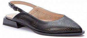 917025/01-02 черный иск.кожа женские туфли открытые (В-Л 2021)