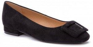 917040/01-01 черный иск.замша женские туфли (В-Л 2021)