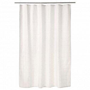 KLOCKAREN КЛОККАРЕН   Штора для ванной, белый с оттенком   180x200 см.