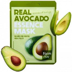 Тканевая маска для лица FarmStay Real Avocado Essence Mask, 1шт*23мл