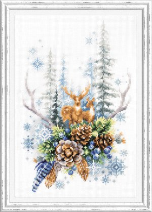 Набор для вышивания Дух зимнего леса 17*27 см