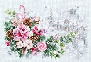 Набор для вышивания Рождественское настроение 32*22 см
